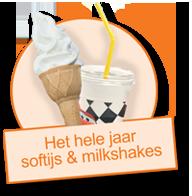 Hele jaar door softijs en milkshakes
